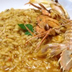 Arroz meloso de galeras y cangrejos