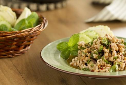 receta Thermomix TM5 TM31 Ensalada de pollo Thai o Laab Kai