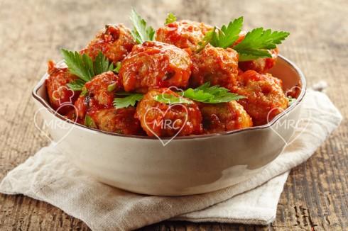 Receta Termomix TM5 o TM31 albondigas de carne con salsa de tomate