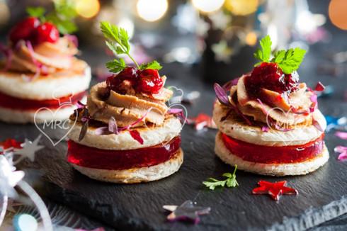 aperitivo foie gras y gelatina de arandanos