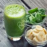 Batido verde con espinacas y platano