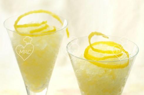 coctel granizado de cava con limon