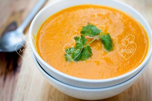 crema de zanahoria al aroma de jengibre