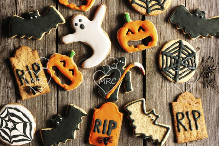galletas de mantequilla para la fiesta de halloween