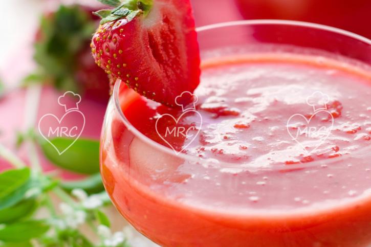 gazpacho exotico de fresa