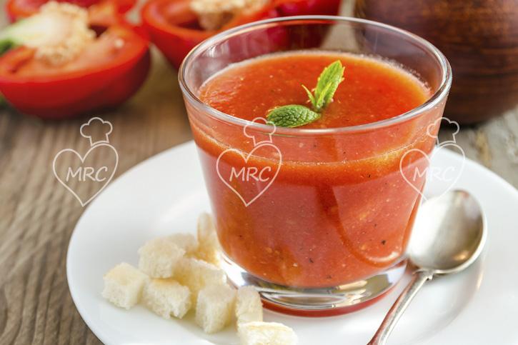 gazpacho andaluz sin pepino