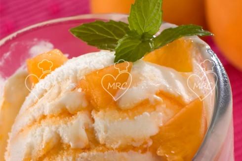 helado de yogurt con albaricoque