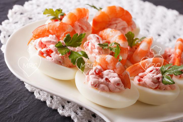 huevos rellenos gambas recetas para cocinar con thermomix