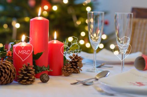 mesa con velas navidad 2017