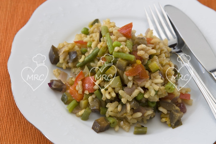 Receta Thermomix TM5 TM31 paella vegetariana solo verduras