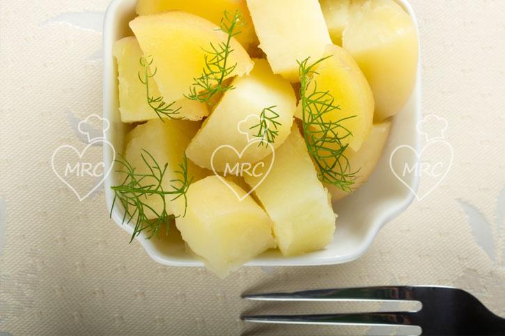 menu completo patatas al vapor