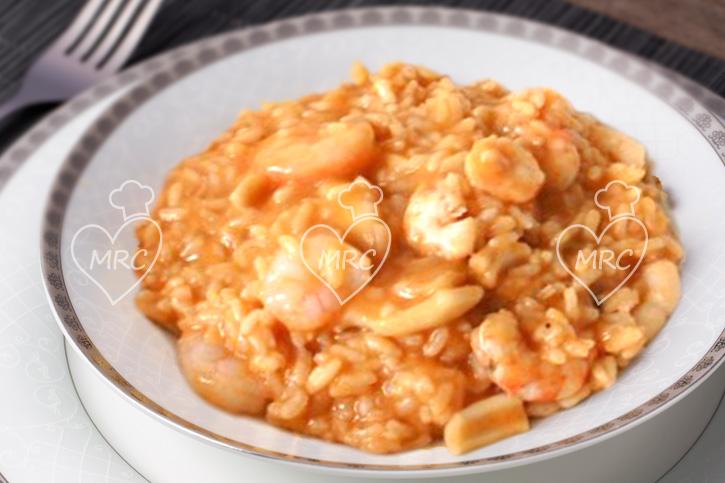 receta Thermomix TM5 TM31 rissoto arroz de gambas y calamares