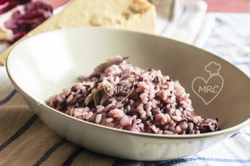 arroz estilo risotto con radiccio