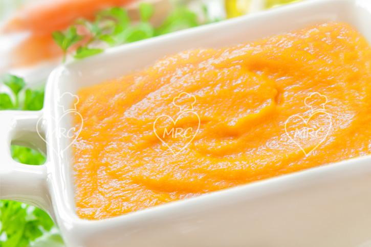 salsa de zanahoria y yogurt