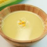 Sopa crema de maíz tierno