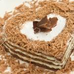 Milhojas de chocolate y crema pastelera