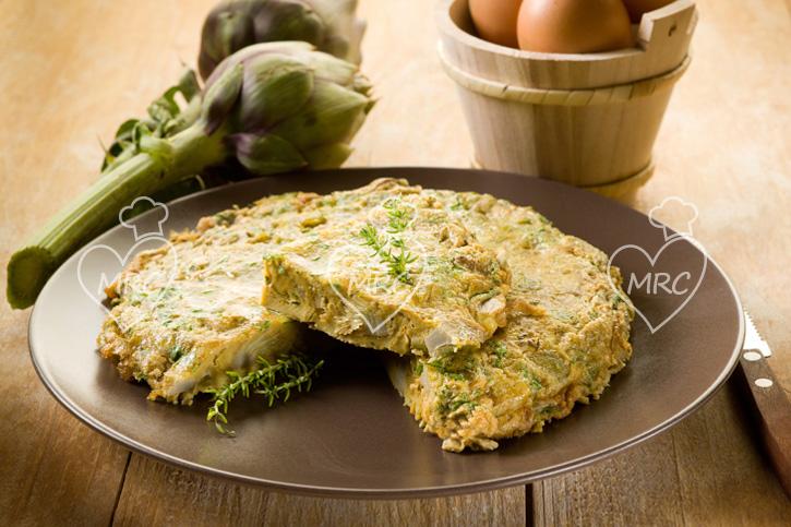 tortilla de alcachofa