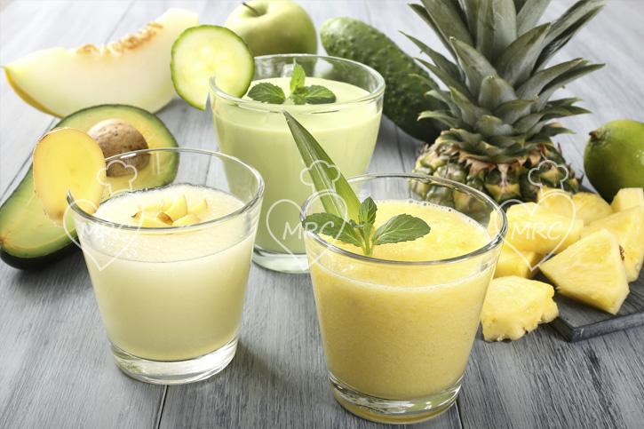 tres-smoothie melon piña aguacate
