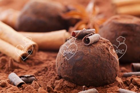 trufas de chocolate fondant