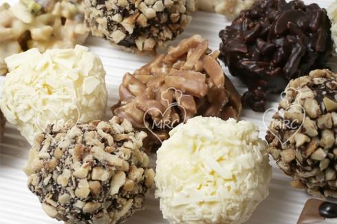 trufas de leche con chocolate