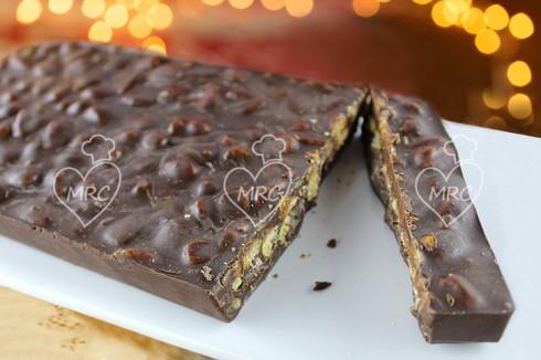 Turr n de chocolate con quicos thermomix recetas for Cocinar con robot