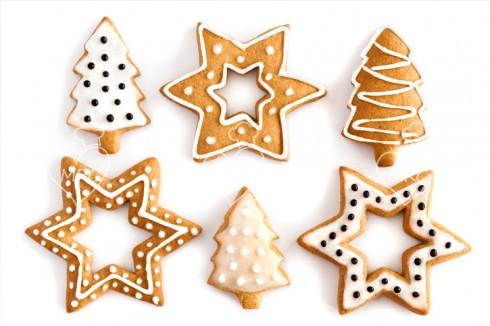 variedad de galletas de jengibre