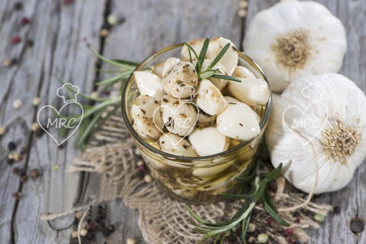 ajos confitados aromatizados