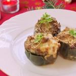 Alcachofas rellenas con huevo de codorniz y foie