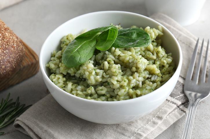 arroz verde de espinacas preparado con Thermomix