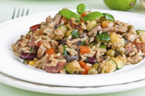 arroz con verduras de temporada