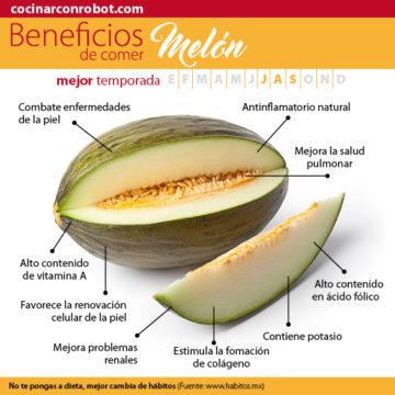 beneficios melos fruta de temporada