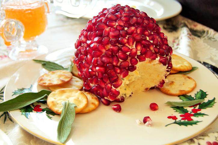 Bola de quesos con granada para untar elaborado Thermomix