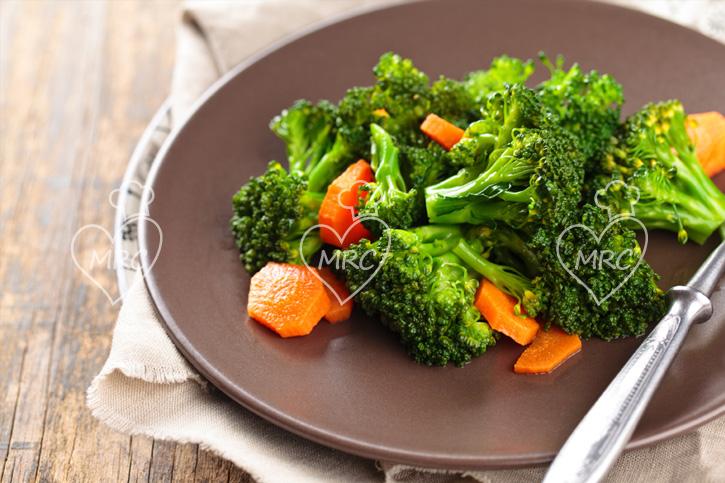 receta de brocoli zanahoria con el varoma del thermomix