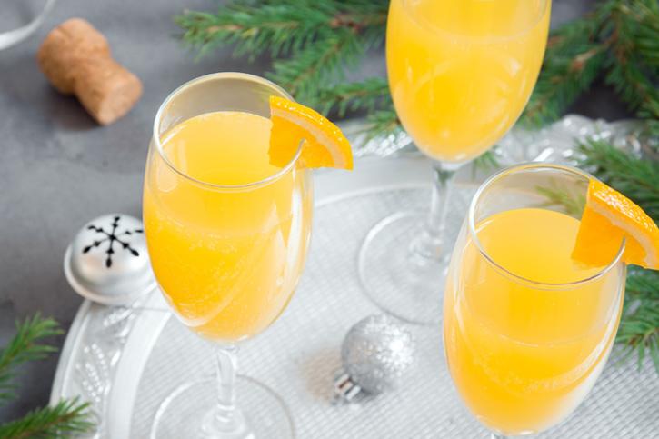 Receta coctel navidad mimosa preparado con Thermomix