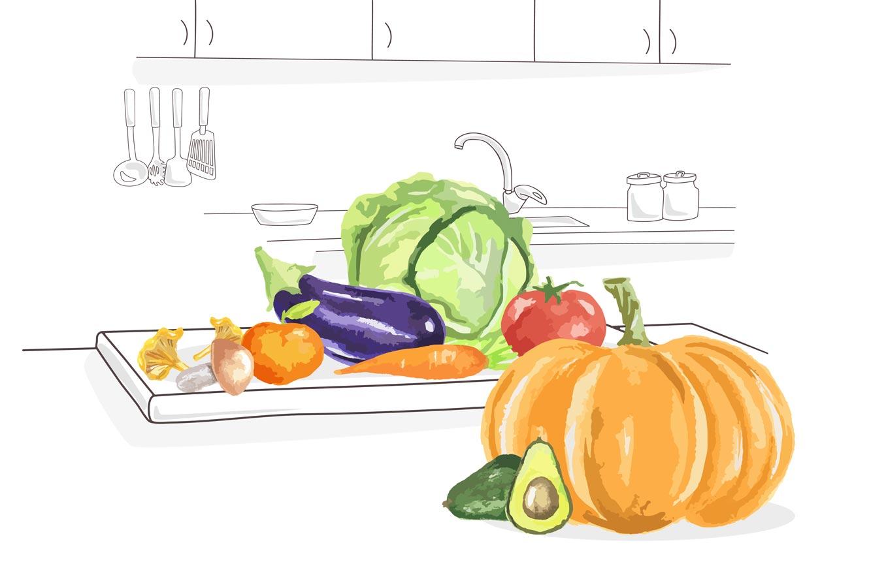 consumo fruta y verdura de temporda en otoño