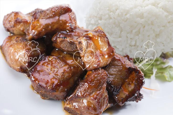 Costillas de cerdo caramlizadas a la miel