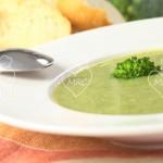 Crema de puerros y brócoli + Pollo a las finas hierbas