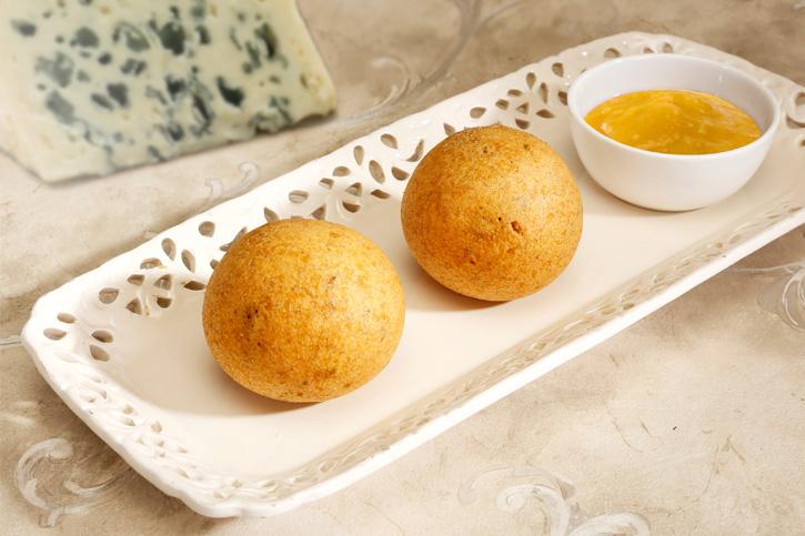 receta thermomix croqueta de queso de cabrales y salsa de membrillo