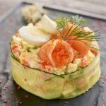 Ensaladilla rusa con salmón y huevas de masago