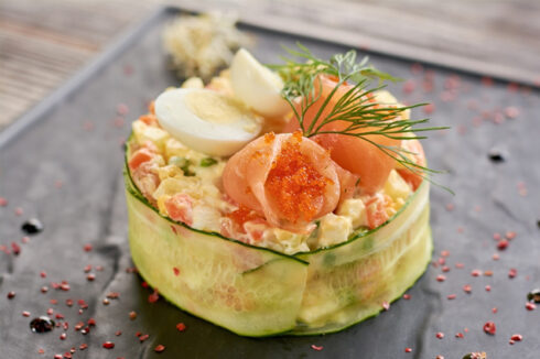 receta ensaladilla rusa de salmon huevas de masago thermomix