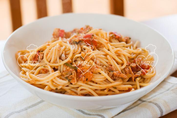 receta Thermomix TM5 TM31 espaguetis atun rojo