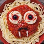 Espaguetis terroríficos para Halloween
