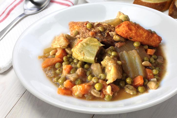 guiso de verduras en cuaresma