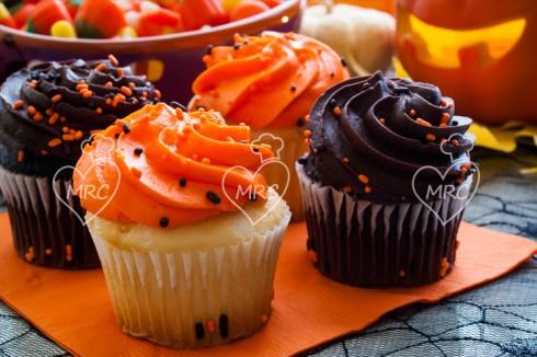 halloween cupcakes de cacao