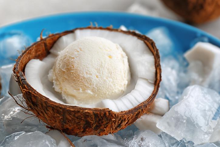 Sigue la receta guiada helado vegano de coco con thermomix