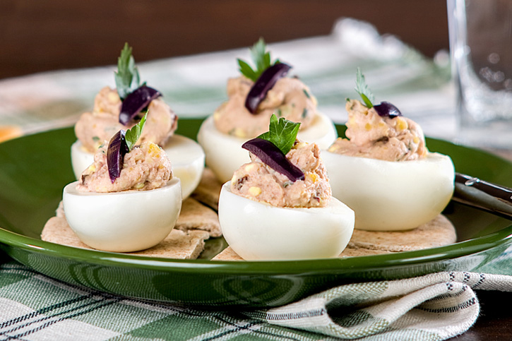 huevos rellenos prepardos con thermomix