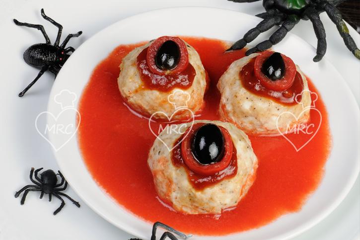 receta thermomix albondigas mostruosas halloween