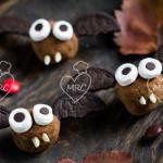 Trufas murciélago para Halloween