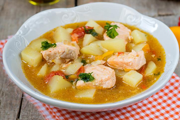 receta marmitako de salmon cocinado con Thermomix