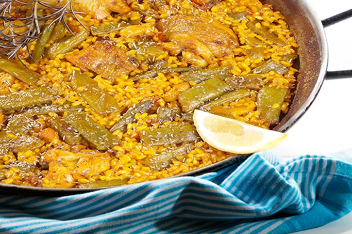 paella valenciana tradicional preparada con thermomixthermomix